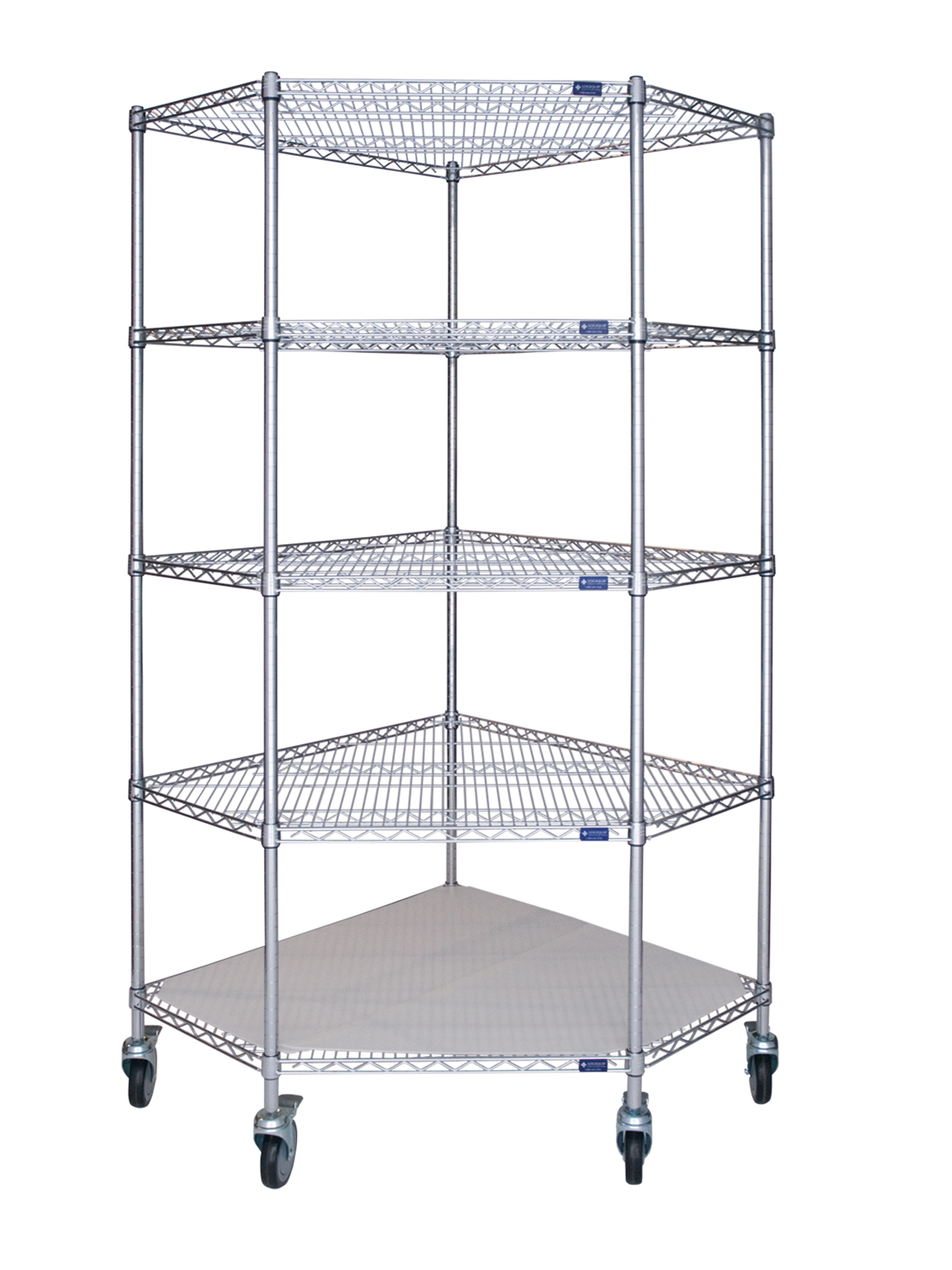Wire Shelving – Corner Unit – Mobile – Storage Systems Unlimited