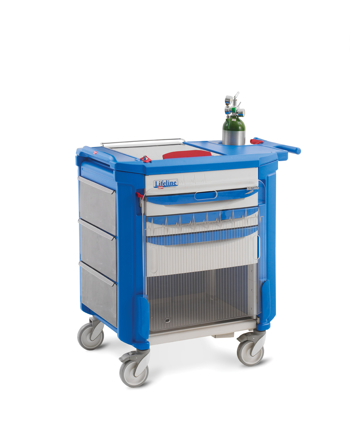 Crash Cart – LEC24P with Accessories – Storage Systems Unlimited